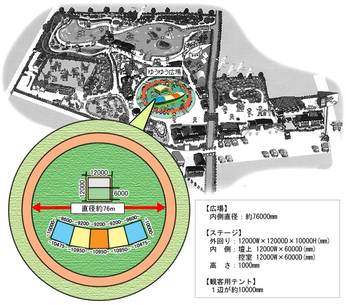 イベント会場位置図・平面図