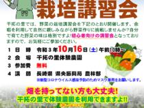 家庭菜園初心者向け野菜の栽培講習会(10/16)
